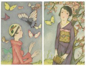 絵葉書「日本の浅春」1929年